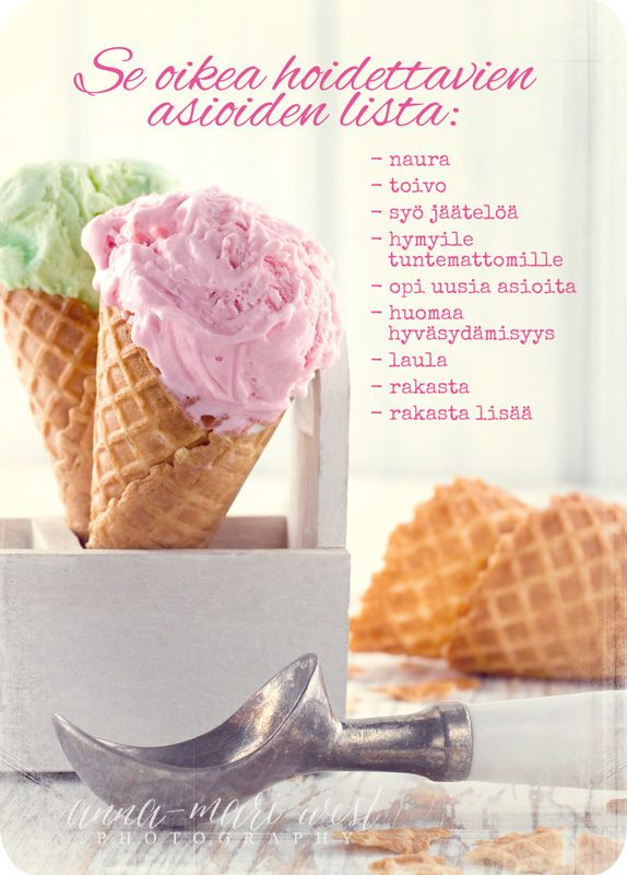 Kortti; Hoidettavien asioiden lista | Anna-Mari West Photography