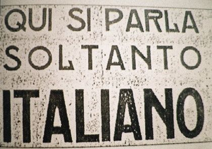 Qui si parla soltanto Italiano - We only speak Italian here.