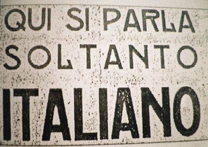 Qui si parla soltanto Italiano - We only speak Italian here.
