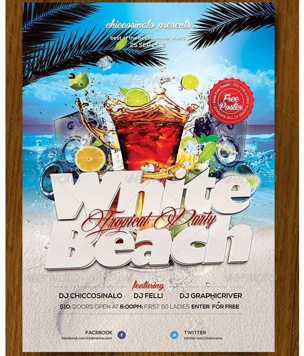 Best Beach Party Flyer Templates An Awesome Collection Of Summer
