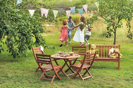 tea party in childrens garden