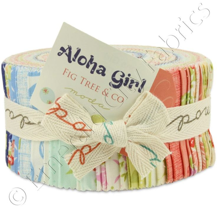 "Moda Aloha Girl Jelly Roll 40 2.5x44"" Precut Cotton Quilt Quilting Fabric Strips #ModaFabrics"