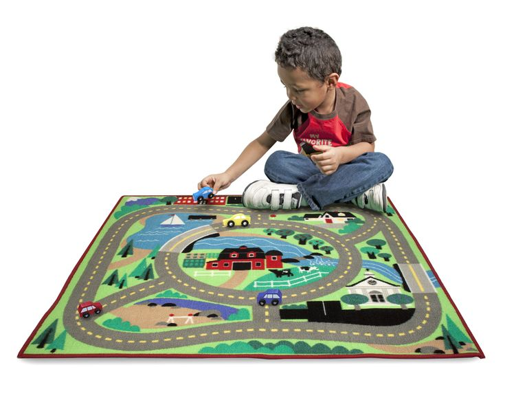 Round The Town Road Rug Car Set Cars Trucks Melissa