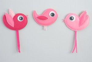 ACUMI-BIRDS (3 pieces) roz-roz-roz