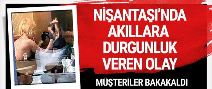 İstanbul Nişantaşı'nda bir kafede akıllara durgunluk veren bir olay yaşandı. Nişantaşı'nda bir kafede oturan kadın, başka bir kadının yüzüne botoks yaptı.