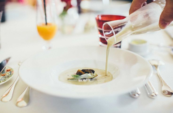 Cèpes (mushroom) soup, freshly prepared from the youngest Michelin star chef in France, was served at a lunch in Champagne with our lovely guide Sydney from Tasty Side of Life Tours.  #paris