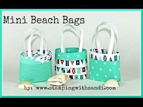 Stampin Up – Mini Beach Bags by Sandi MacIver @ www.stampinwithsa…