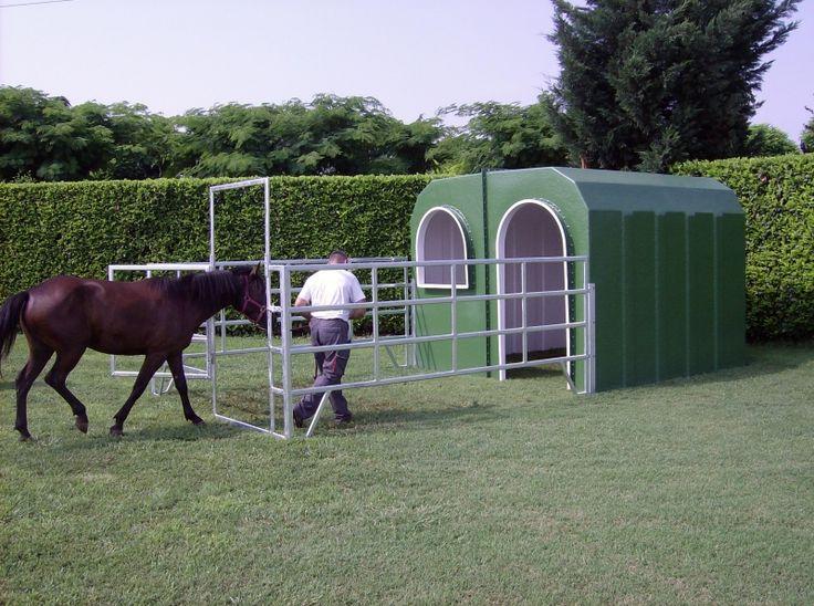 Pferdestall Pferdebox Iglu Offenstall Außenbox Unterstand   eBay