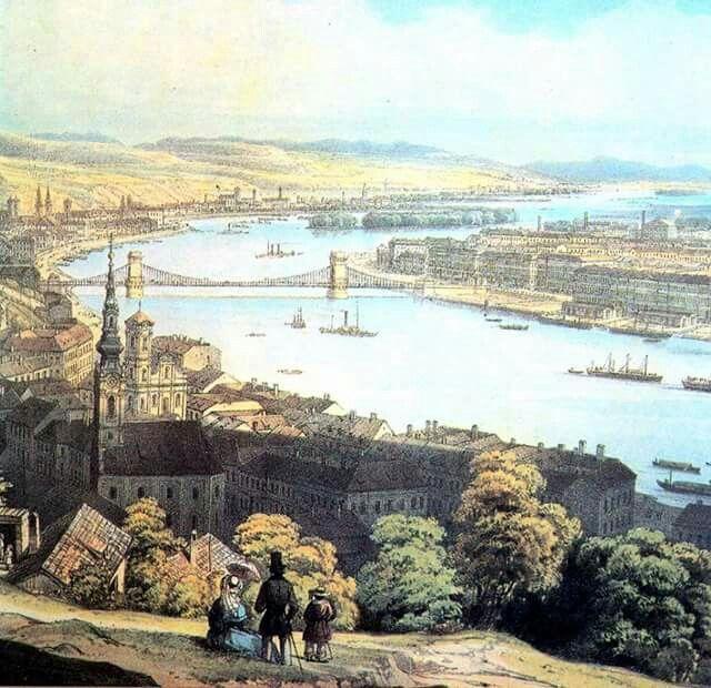 1850. Kilátás a Gellérthegyről