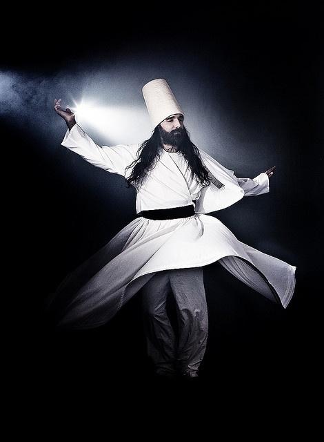Sufi Dancer by ofirabe, via Flickr #sufi #tannoura #rumi #dervish