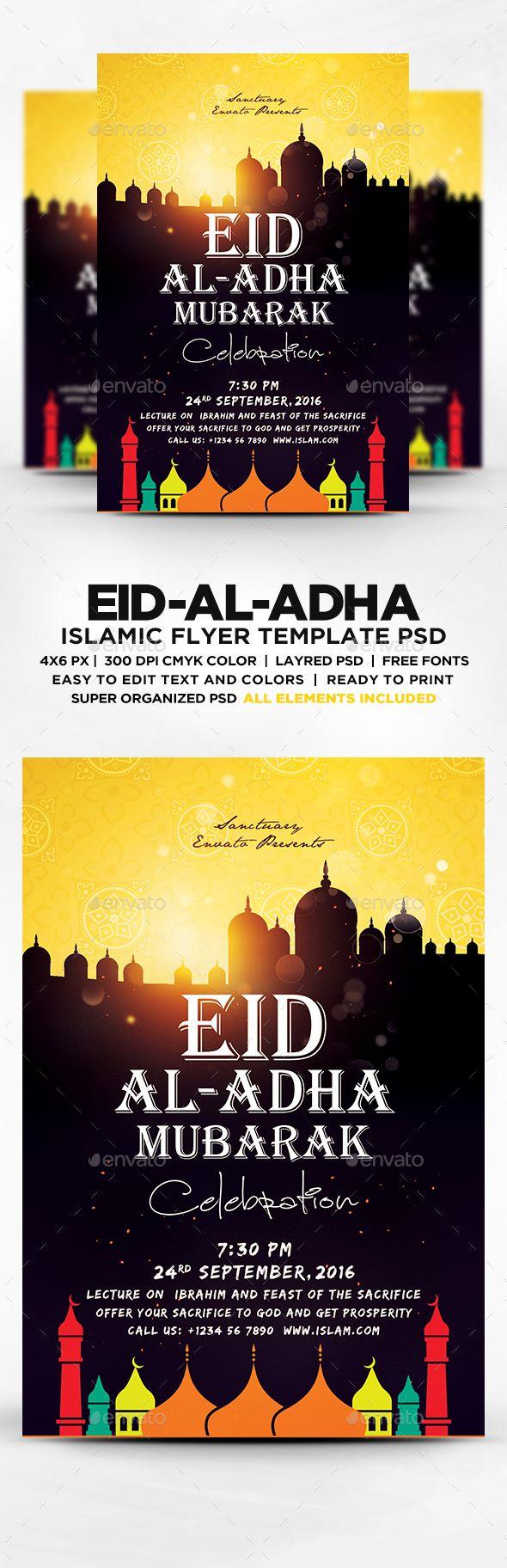 Eid-al-Adha Islamic Celebration Flyer PSD  Download now : https://graphicriver.net/item/eidaladha-islamic-celebration-flyer-psd/17162556?ref=iDoodle