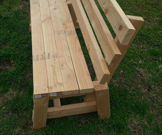 White Wood Garden Bench Solid Handmade Bench With Back Wood Bench Outdoor Bench With Back Garden Bench