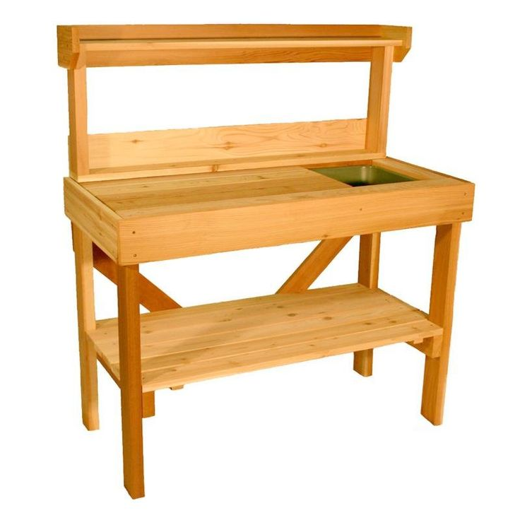Possibility. Cedar Wood Potting Bench with Sink $299.99Gardens Ideas, Green Thumb, Pots Tables, Wood Pots, Cedar Wood, Potting Benches, Sinks, Backyards Ideas, Pots Benches