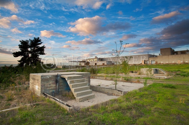Abandoned buildings at the El Toro Marine Base. Irvine, CA
