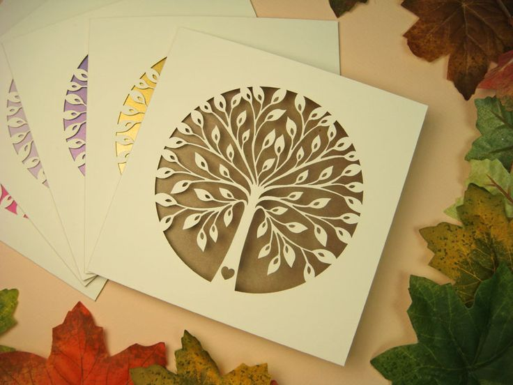 zaproszenie ślubne z papierem ekologicznym Drzewko Szczęścia wzór 59 |   Zaproszenia ślubne laserowe, kartki 3D