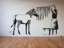 Trend Banksy Streetart Waschtag XXL Wandtattoo