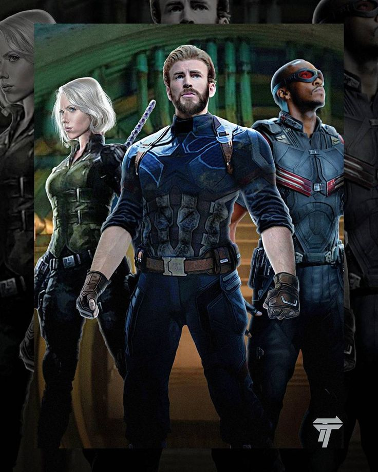 Some more concept/promo art for Avengers: Infinity War has found its way online, giving us much better looks at some previously seen images of Captain America and Black Widow, and a new glimpse of Falcon.
