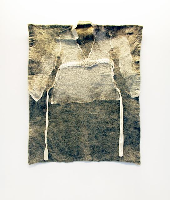 Kristina D Aas work. Silk garment felted in wool. 2010.
