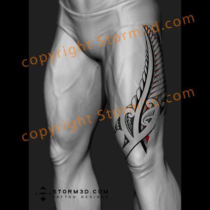 koru-fern-upper-thigh-design-maoristyle-red-tattoos