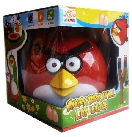 Angry Bird Red Lay Egg Condition  New  Battery operated Angry Bird Red which will lay eggs while rolling on the floor.