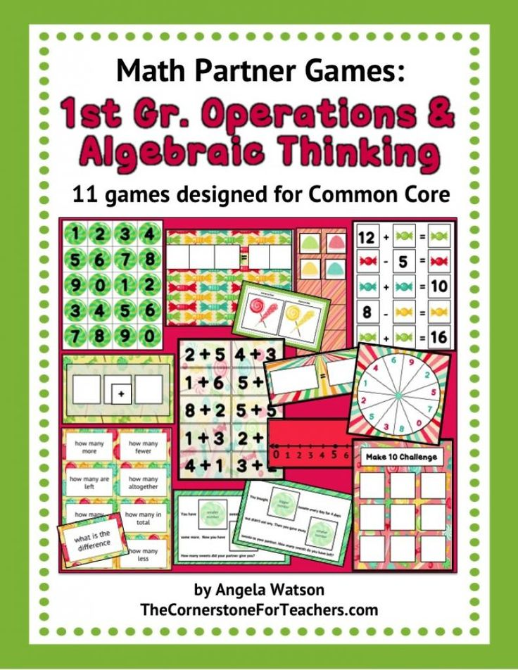 Operations & algebraic thinking games + a free handson