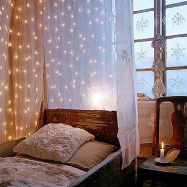 die besten 25+ weihnachtsbeleuchtung im schlafzimmer ideen nur auf, Innenarchitektur ideen