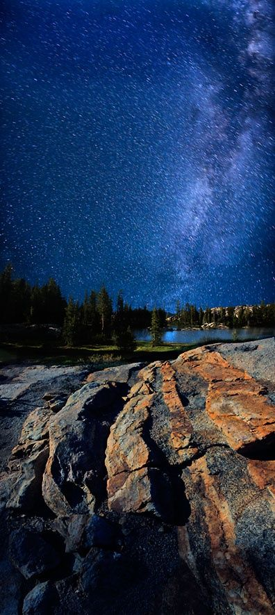 Milky Way Over Powell Lake, Utah and Arizona