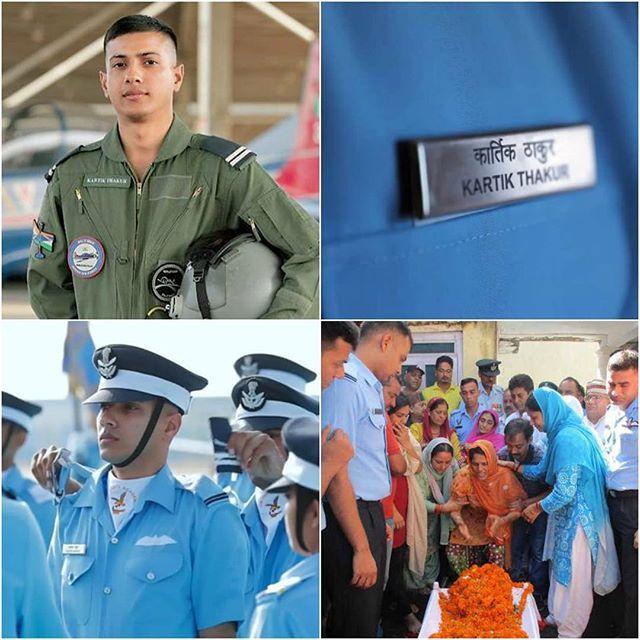 The nation mourns the loss of Flying Officer Kartik Thakur