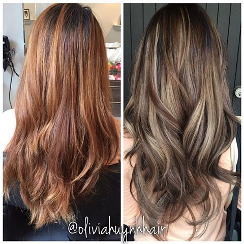 Best 25 balayage vs highlights ideas on pinterest balayage hair before vs after colour correction i did on my client vanida she came in with very brassy orange ha oliviahuynhhair pmusecretfo Gallery