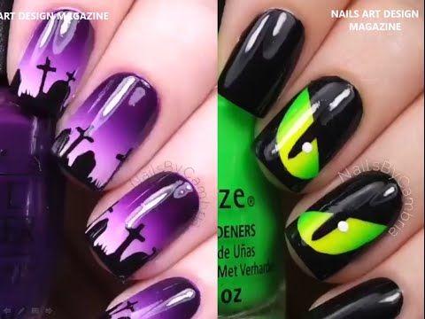 Diseño de Uñas para Halloween - Nail Design for Halloween. - YouTube