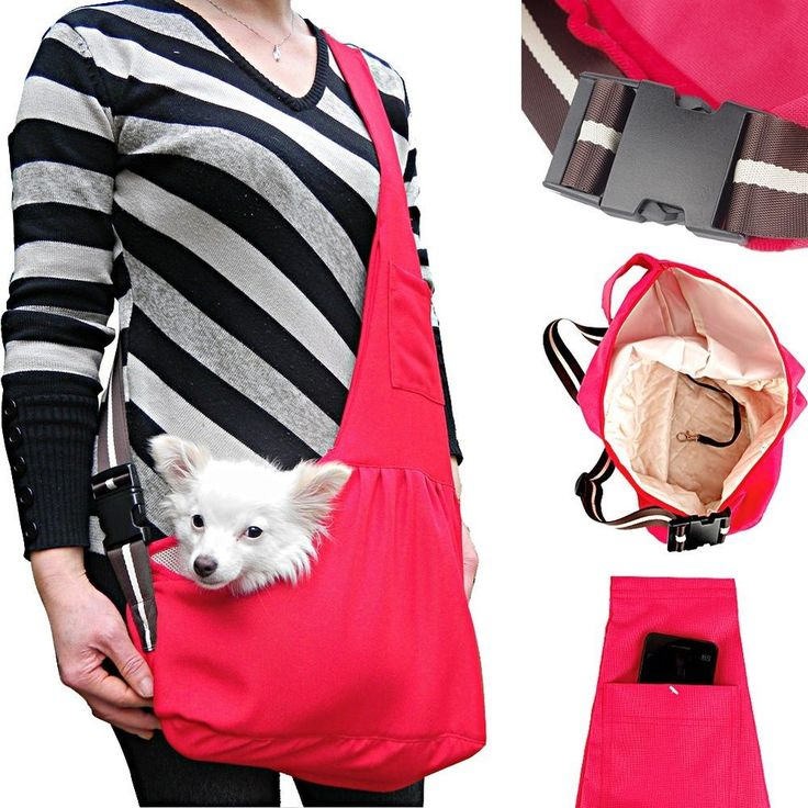 Red Oxford Cloth Dog Sling Carrier Tote Bag Cat Pet This is to carry my baby nacho chip!