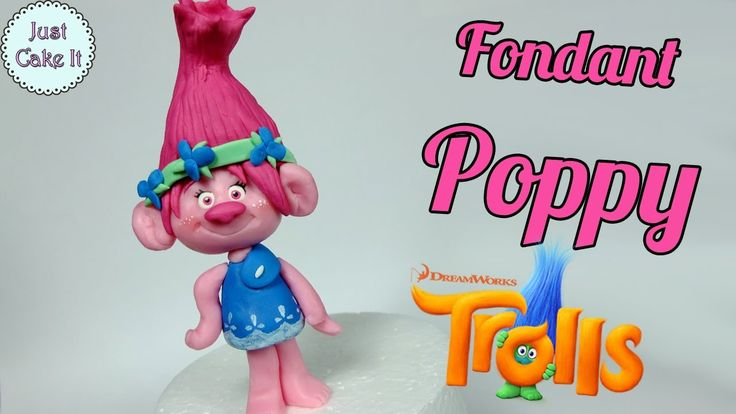 How to make fondant Poppy cake topper tutorial (Trolls)