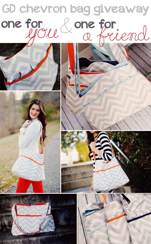 I love this chevron bag. I need one! GD chevron bag giveaway! Win one for you, and one for a friend! @groopdealz