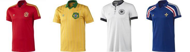 Adidas Original x Retro International Football Shirts #adidas #adidasoriginals #football #footballshirts