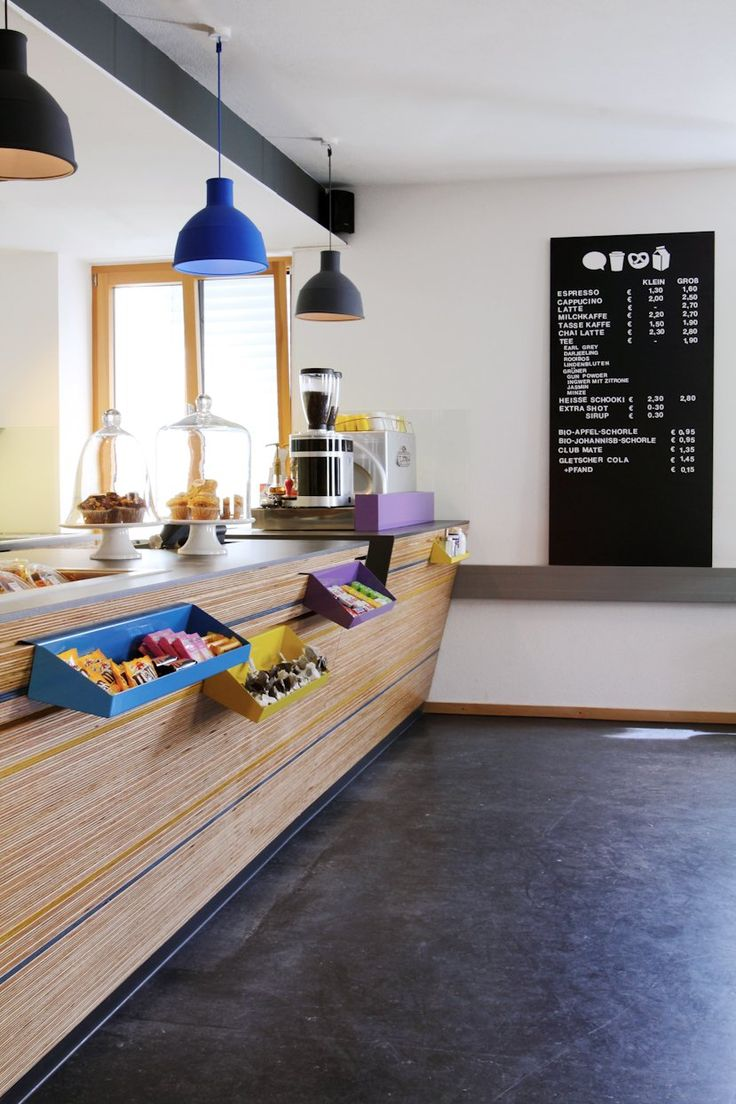 I love the shelving! Great idea to free up bench space! I certainly wouldn't be selling candy in my cafe though! Only home made treats :-) (Mundvoll Cafe & Grocery Store in Germany)