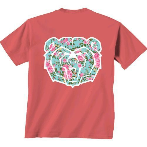 New World Graphics Women's Missouri State University Floral Short Sleeve T-shirt (Red Light, Size Large) - NCAA Licensed Product, NCAA Women's at A...