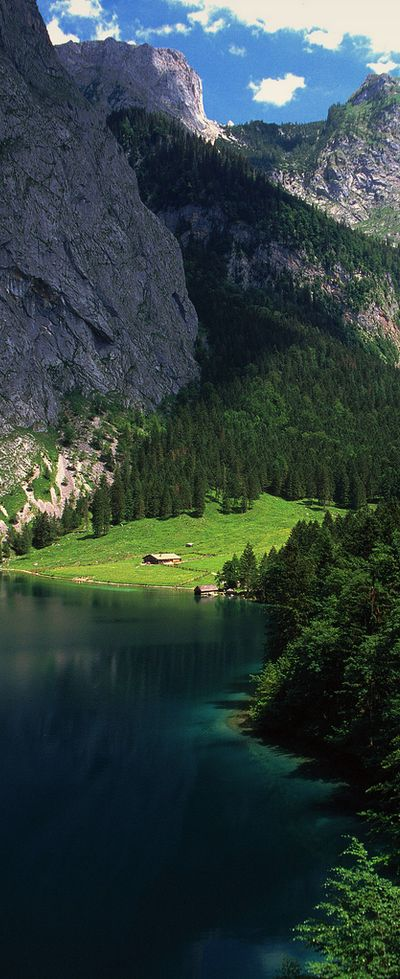 Upper Lake in Berchtesgaden, Bavaria, Germany