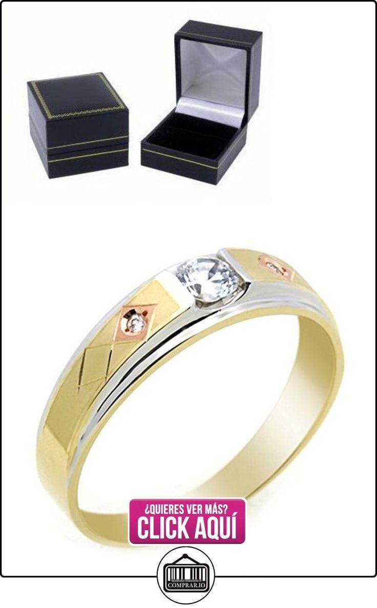 Pequeños Tesoros - Anillo de hombre - Anillo de compromiso y boda de oro 0.3ct Circonita  ✿ Joyas para hombres especiales - lujo ✿ ▬► Ver oferta: https://comprar.io/goto/B00BFXA49S