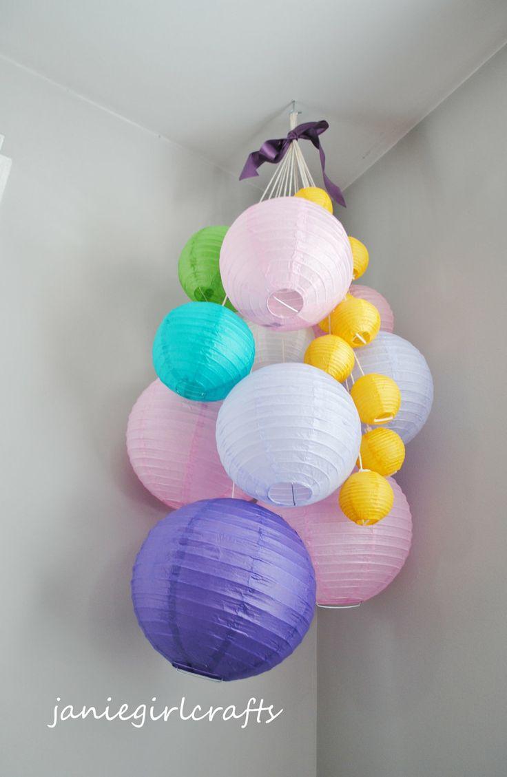 Tangled Rapunzel Large Paper Lantern Balloon Mobile