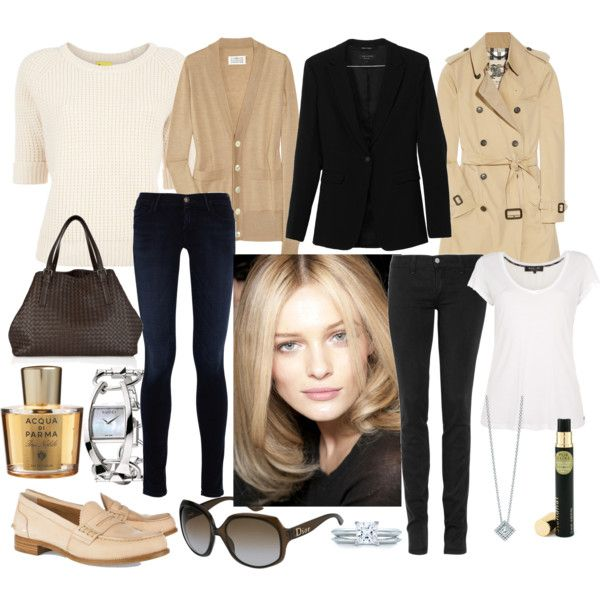 Capsule wardrobe for travelling. Neutral pieces.