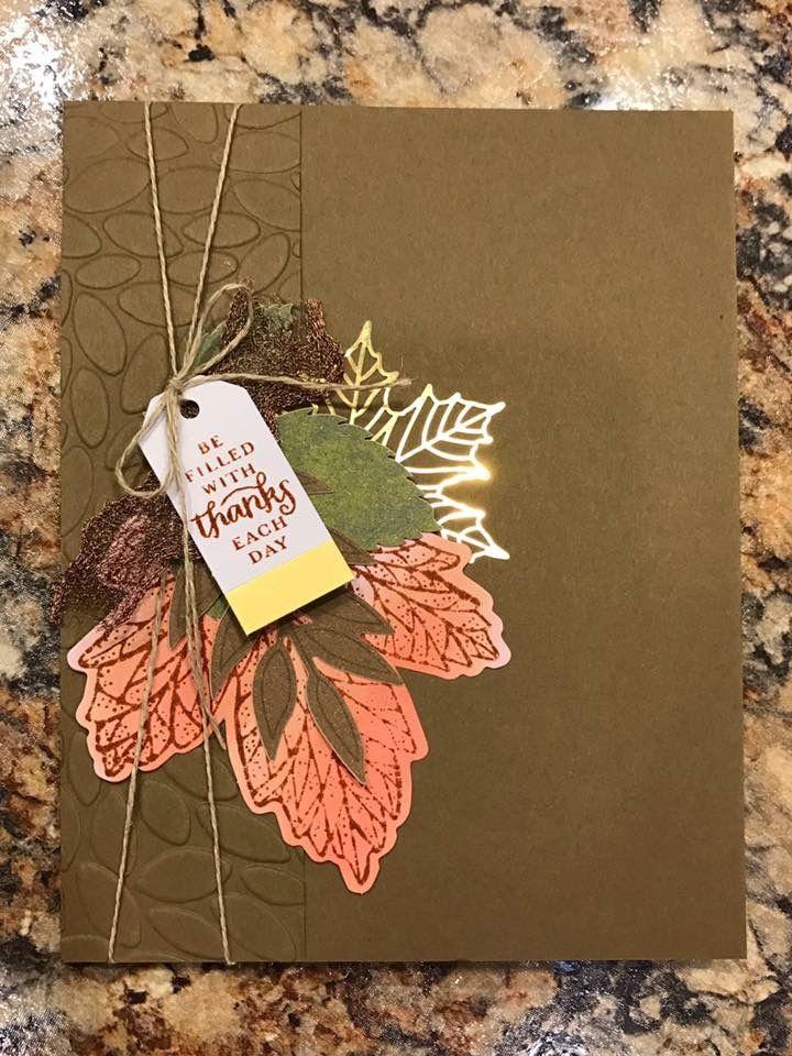Paper Pumpkin September 2017 Layered Leaves alternate