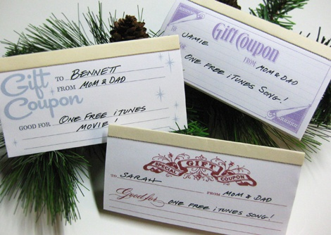 gift coupons for daughters birthday!  Trip for a mini pedi, movies and popcorn, and create a pot visit!