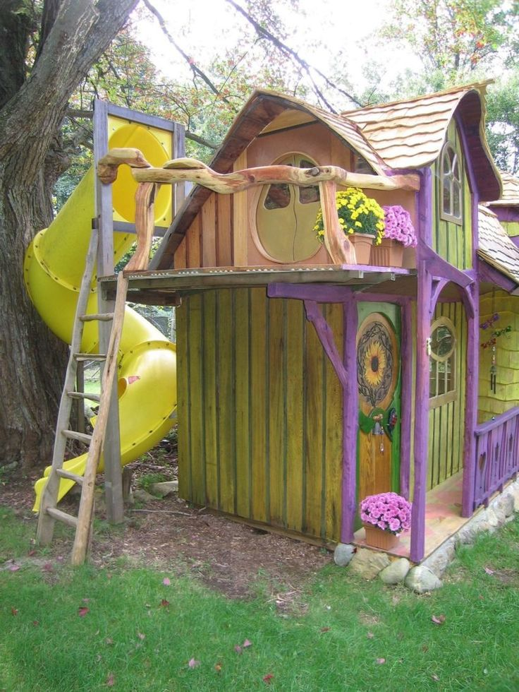 Lovely 46 Fabulous Backyard Playhouses to Delight your Kids http://godiygo.com/2017/12/19/46-fabulous-backyard-playhouse-delight-kids/