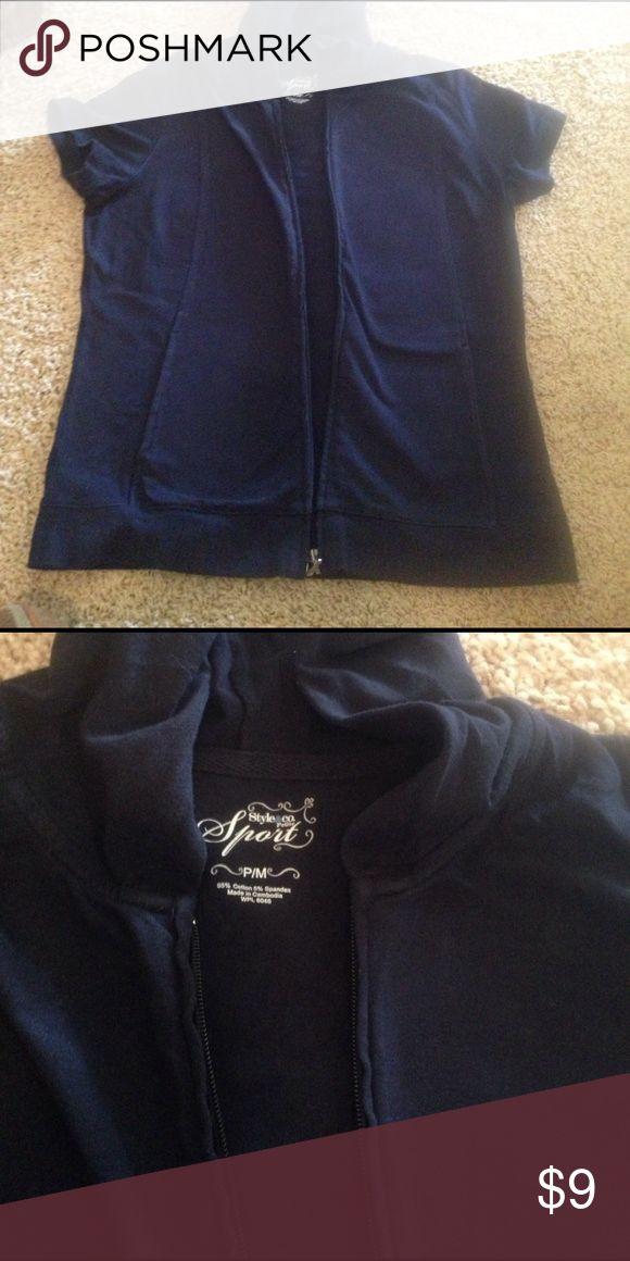 Short sleeve , zip up hoodie Navy , zip up hoodie Style & Co Jackets & Coats
