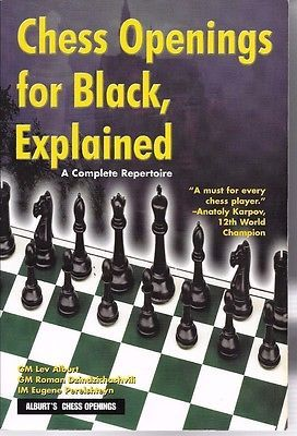 Chess Book Openings Black Explained Alburt   Toys & Hobbies:Games:Chess:Contemporary Chess www.internetauctionservicesllc.com $24.99