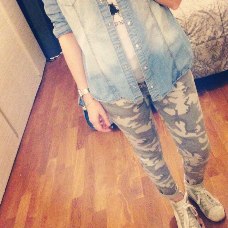 Be Camo!  / camicia jeans H&M /