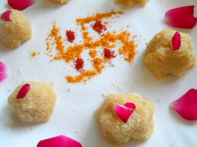 Coconut Ladoo with Jaggery..Navratri Sweet.