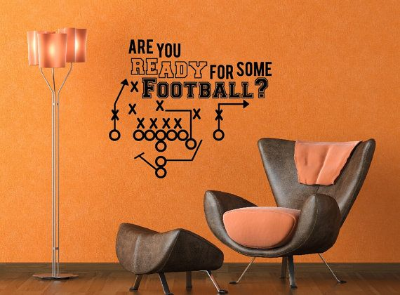 Man Cave Decor Vinyl Wall Decal Football Art Home By Newyorkvinyl 18 95 Footballfortheladies