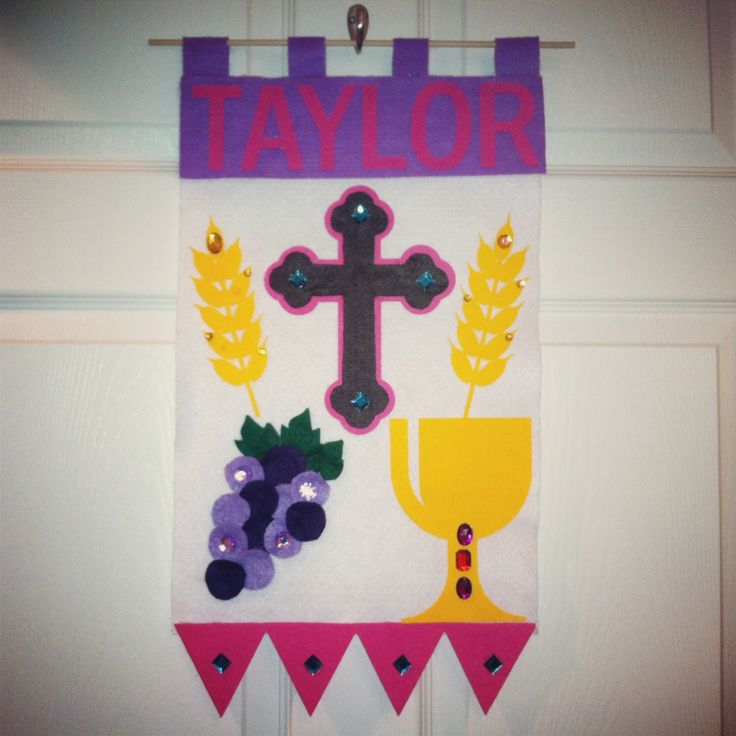 49 best first communion banners images on pinterest for First communion craft ideas
