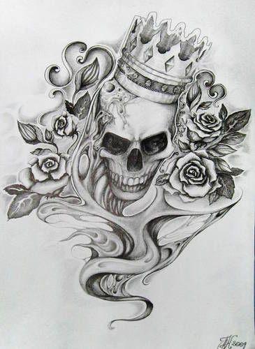 Skull Gangster Tattoo Drawings | Skull Tattoo Aqata18 20052009 192442